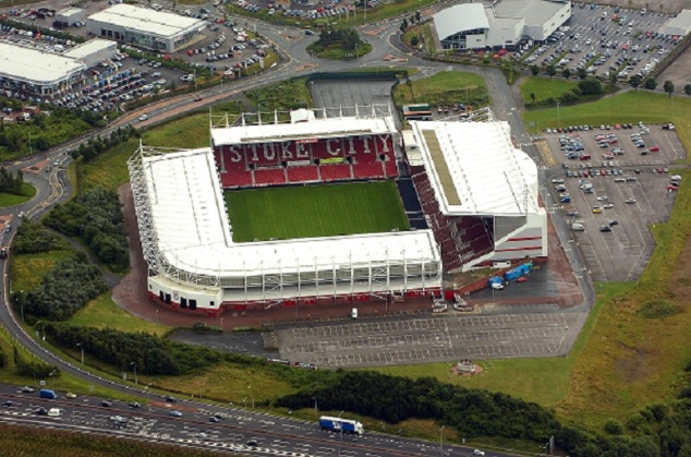 The Britannia Stadium: Home of Stoke City FC.