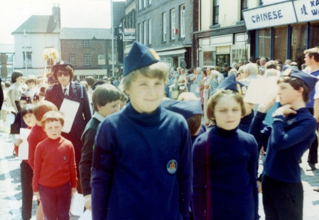 Yours truly, front and centre, during my Boys' Brigade days. (My brother Matthew is left of me in the red Cabin Boys jumper.