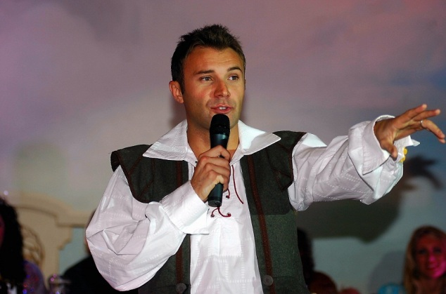 Potteries stage star Jonathan Wilkes at the press launch for the Dick Whittington pantomime.