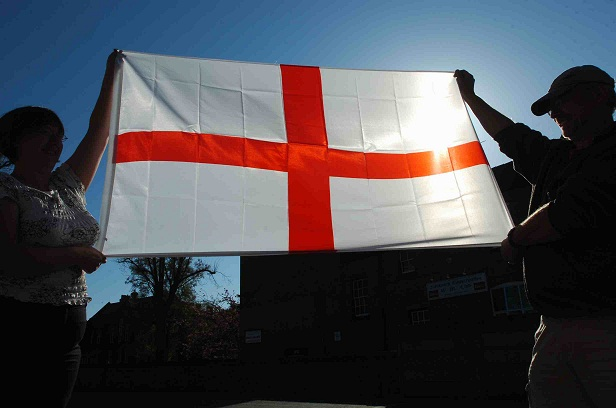 The flag of St. George.