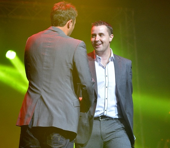 Yours truly with Jonathan Wilkes at Stoke's Top Talent 2012.