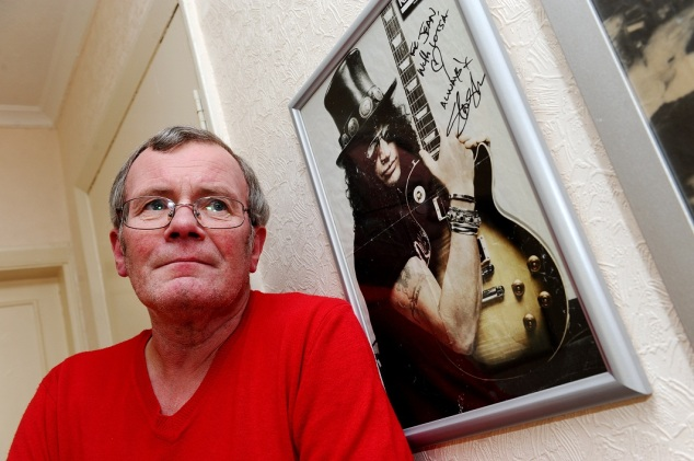 Slash's uncle Ian Hudson at home.