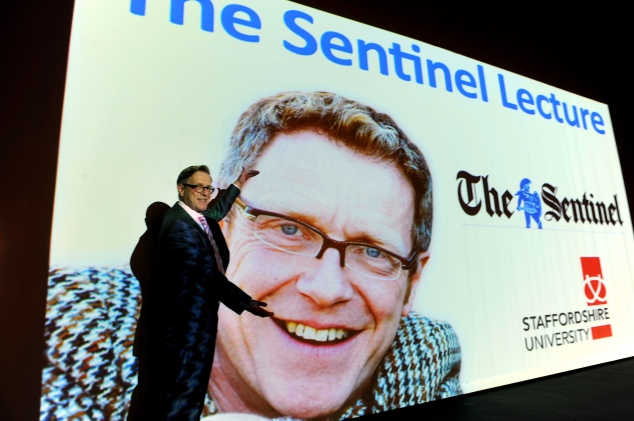 Mike Wolfe at the inaugural Sentinel Lecture.