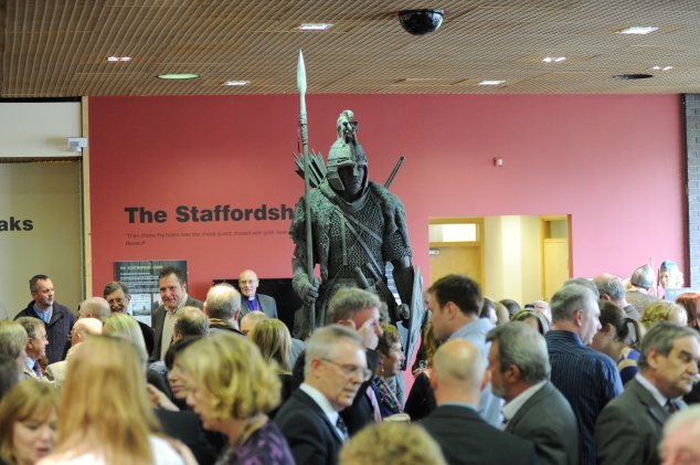 The launch event for the Staffordshire Saxon at the Potteries Museum and Art Gallery.