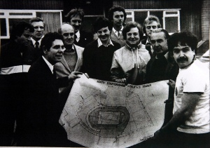 Tom Brennan during his days as a city councillor with plans for Northwood Stadium.