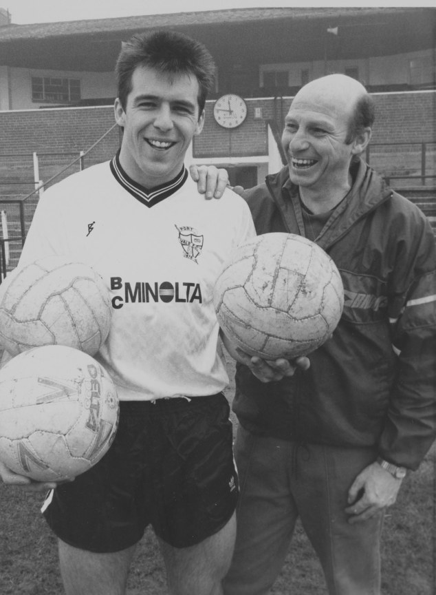 Vale legend Andy Jones with his gaffer John Rudge.