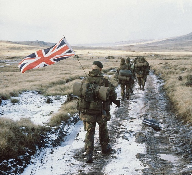British troops on the Falklands in 1982.