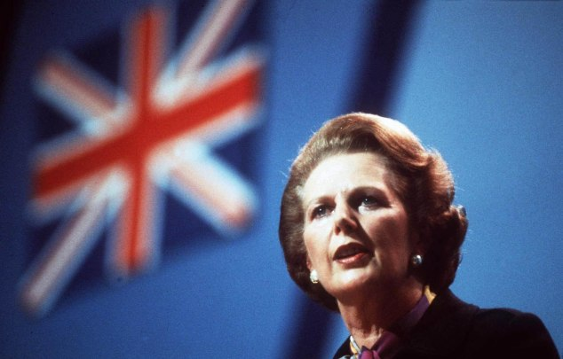 A lady not for turning: Former Prime Minister Margaret Thatcher.