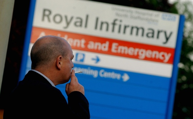 Do you think people should be allowed to smoke on NHS premises?