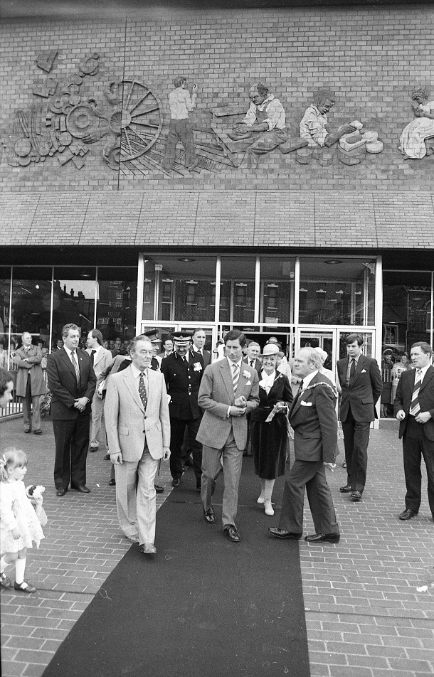 Prince Charles officially opening phase two of the City Museum and Art Gallery in June 1981.