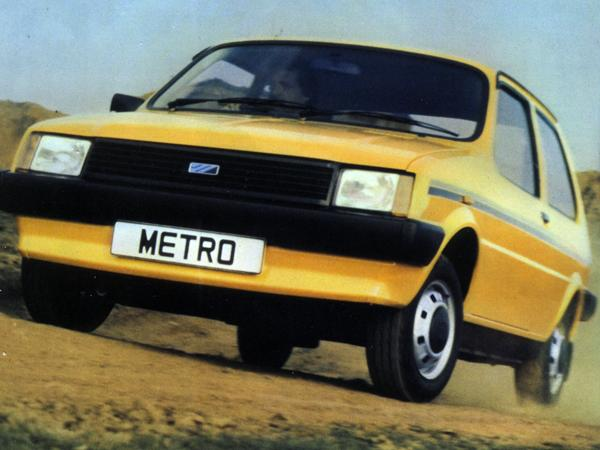 A yellow Metro not too dissimilar to my beloved motor.
