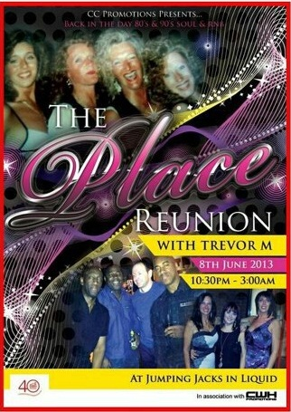 A flyer for The Place reunion. Organiser Carol is pictured top left on a picture taken in 1991.