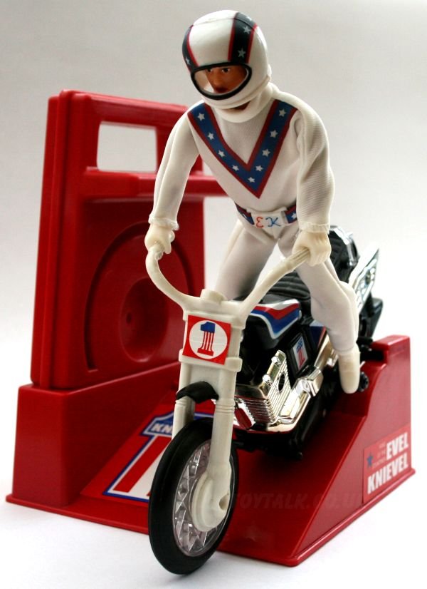The Evel Knievel rev-up motorcycle.