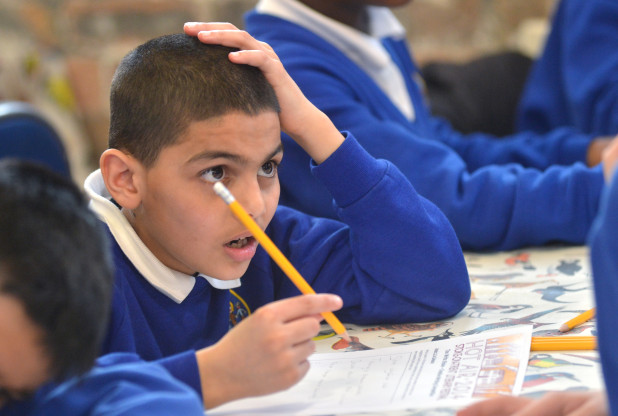 A Waterside Primary pupil during a creative writing event at Emma Bridgewater.
