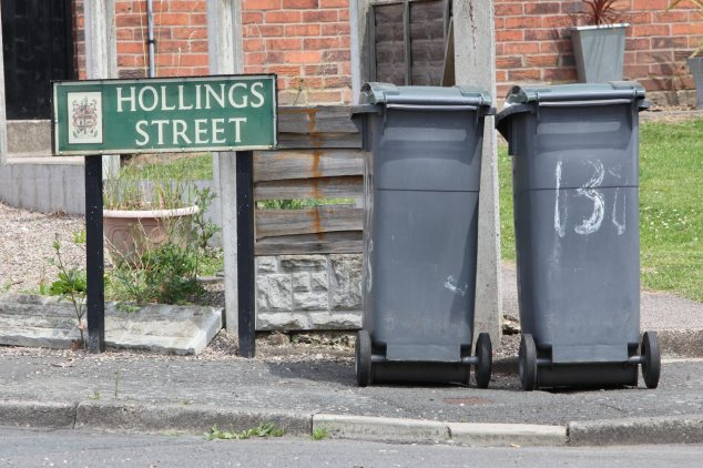 Hollings Street where children have been seen rooting through bins.