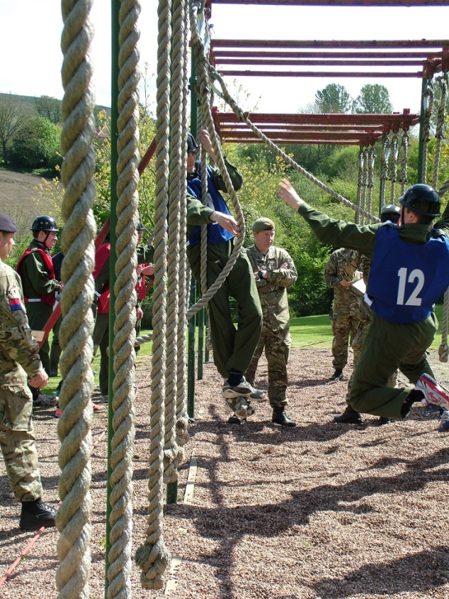 Officer candidates put through their paces at AOSB.